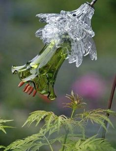 Mike Urban is making these Glass Flowers from The Cretaceous Garden..