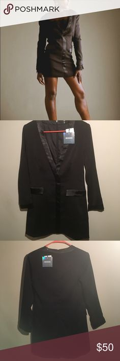 Miss Guided Dress Suit Brand New Dress suit (All Black with black silk lining) Size: UK: 4 / US: 0 / EUR: 32 Miss Guided Dresses High Low