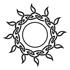 Celtic sun - needs something in the middle.