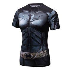 Batgirl I - Awesome Stuff Gym Shirts, Shirts For Girls, Workout Shirts, Family Birthday Shirts, Batman Shirt, Compression T Shirt, Female Superhero, Gym Tops, Spandex Shorts