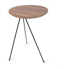 Bias Side Table in Black American Walnut