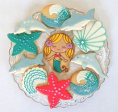 Gorgeous mermaid cookies