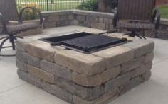 Amazing Outdoor Square Fire Pit Designs