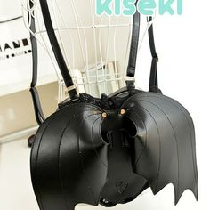 Cute kawaii creepy cute backpack with bat wings gothic lolita