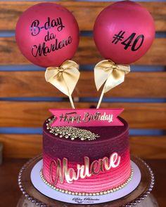 Creative Birthday Cakes, Cute Birthday Cakes, Beautiful Birthday Cakes, Creative Cakes, Beautiful Cakes, Birthday Cards, Birthday Cake For Women Elegant, Birthday Cakes For Women, Pretty Cakes