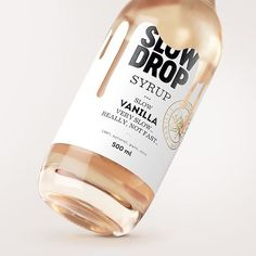 Creative packaging for Slow Drop syrup by Stas Neretin #designspiration #packagingdesign #brandingdesign #branding101 #designthinking #labels