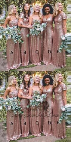 Mismatched Long Cheap Rose Gold Sequined Bridesmaid Dresses, - Mismatched Long Cheap Rose Gold Sequined Bridesmaid Dresses, Source by debraganzaavery - Gold Bridesmaids, Mismatched Bridesmaid Dresses, Wedding Bridesmaid Dresses, Wedding Gowns, Gold Sparkle Bridesmaid Dress, Bridesmaid Color, Colored Wedding Dress, Lilac Wedding, Wedding Colors