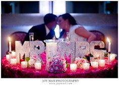 Sweetheart Table #wedding #bling