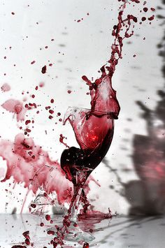 Exploding Wine Glass by Gary Ertter