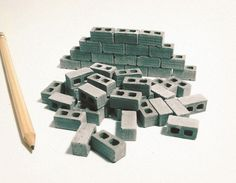 1:24 Scale Miniature Cinder Blocks - 50pk by Mini Materials