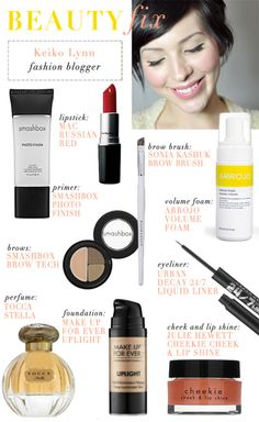 Keiko Lynn's favorite beauty items