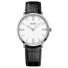 Buy Hugo Boss Gents Jackson White Dial Brown Strap Watch at Hugh Rice Jewellers. Free delivery on Hugo Boss. Hugo Boss Homme, Hugo Boss Watches, Watches For Men, Men's Watches, Dress Watches, Luxury Watches, Fashion Watches, White Watches, Bracelets
