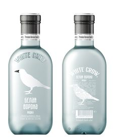 White Crow Vodka branding by Alexandrov Design House 02 White Crow Vodka branding by Alexandrov Design House Cool Packaging, Beverage Packaging, Bottle Packaging, Brand Packaging, Alcohol Bottles, Vodka Bottle, Premium Vodka, Tequila, Whisky