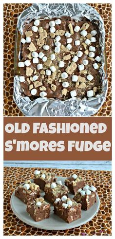 I can't get enough of this melt in your mouth Old Fashioned S'mores Fudge! #smoresrecipes #fudgerecipes #dessertrecipes | S'mores Recipes | Fudge Recipes | Dessert Fudge | Marshmallows | Chocolate Recipes | Easy Recipes | Graham Crackers | Quick and Easy Recipes | Easy No Bake Desserts, Homemade Desserts, Köstliche Desserts, Cheesecake Desserts, Delicious Desserts, Dessert Recipes, Yummy Food, Fudge Recipes, Chocolate Recipes