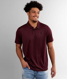 Hurley Reid Performance Stretch Polo - Red Small, Men's Nightmaroon Embroidered logo perforated polo Perforated collar inset for breathability found exclusively at Buckle Model Info: Height: Red Media, Hurley, Photography Poses, Style Guides, Husband, Polo, Model, Mens Tops, T Shirt
