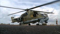 Hubschrauber bereit zum Einsatz an der Basis bei Latakia: Laut der...