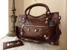 Balenciaga City in Castagna Lambskin with Giant 21 Silver Hardware - SOLD 391ce859ea8a3