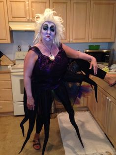 Homemade Ursula costume & Homemade Ursula Costume All Done in One Night! | Pinterest | Ursula ...