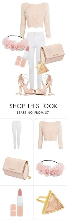 """""""Girly outfit"""" by jamroxoxo on Polyvore featuring moda, Topshop, Coast, Givenchy, Rimmel, croptop, Heels i flowercorn"""
