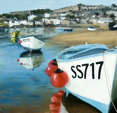 Low Tide, St Ives. Prints and cards from original artwork available.