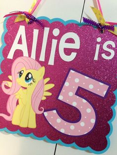 My Little Pony Birthday Door/Wall Sign by MonicaDawnDesigns