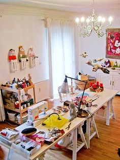 Messy but creative studio space