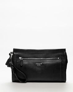 COACH Legacy Leather Large Clutch