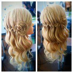 Waterfall braid and braided flower