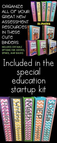 Are you a special education teacher who needs to get organized.  Check out these binders that are part of a wonderful 'Start up kit bundle'.  Super value.  Sold on TpT by Chrissie's Creations