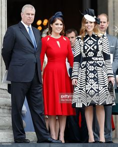 (EMBARGOED FOR PUBLICATION IN UK NEWSPAPERS UNTIL 48 HOURS AFTER CREATE DATE AND TIME) Prince Andrew, Duke of York, Princess Eugenie and Princess Beatrice attend a national service of thanksgiving to mark Queen Elizabeth II's 90th birthday at St Paul's Cathedral on June 10, 2016 in London, England. (Photo by Max Mumby/Indigo/Getty Images)