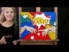 Learn How to Paint POP HANDS OF CREATION with Acrylic - Paint & Sip at Home - Step by Step Tutorial