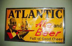 Vintage Atlantic Ale and Beer sign. Old South Beer
