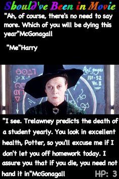 Harry Potter and the Prisoner of Azkaban Should've Been in Movie McGonagall Trelawney Harry funny.