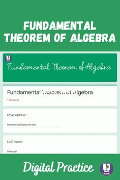 Save yourself time by assigning your students this self-checking digital homework assignment where students solve problems that require understanding of the Fundamental Theorem of Algebra including: given the equation of the polynomial, find all zeros and given the zeros, write an equation for the polynomial. #roots #syntheticdivision #remaindertheorem #precalculus #algebra2 #polynomials #polynomialfunctions Synthetic Division, Precalculus, Algebra 2, Math Resources, Problem Solving, Equation, Students, How To Get
