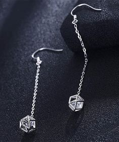 8ca5b6608 Sterling Silver Geometric Drop Earrings with Swarovski Crystals Fashion  Deals, Sterling Silver Jewelry, Arrow