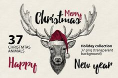 CHRISTMAS Animals Prints collection by Art Loft on @creativemarket