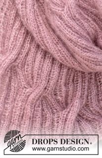 Knitted DROPS scarf with cables in 2 threads Knitting Stiches, Knitting Patterns Free, Free Knitting, Free Pattern, Crochet Patterns, Drops Design, Magazine Drops, Drops Patterns, How To Start Knitting