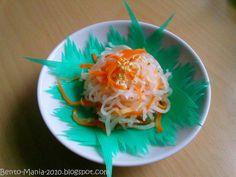 Bento-Mania.....verrückt nach der japanischen Lunch Box: Rezept: Namasu (jap. süß-sauer eingelegter Rettich mit Karotten)