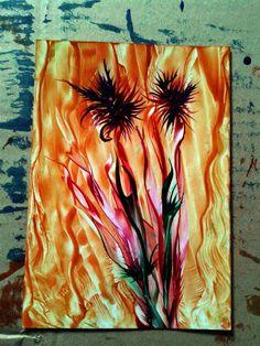 Encaustic art 15x10.5 cm.