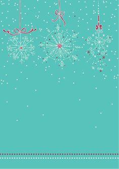 FREE printable Winter snowflake border scrapbook paper
