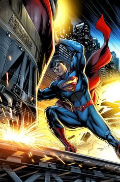 """A variant cover to """"Action Comics #1"""" (The New 52 reboot) by artist JPR."""