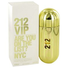 212 Vip By Carolina Herrera Eau De Parfum Spray 2.7 Oz. 212 VIP by Carolina Herrera is for the sophisticated frivolous youth. The fun-loving chic and vivacious recognize the rejuvenation of the bottled spirit with their energy. The creation of perfumerAlberto Morillas this is a seamless accord of woody tropical rum and vanilla. The top notes open with the fusion of passion fruit and rum. The heart is made up of musk and gardenia while the base is a gourmand of tonka beans and vanilla. It is…