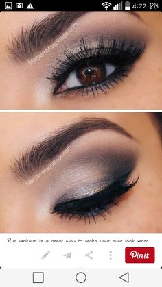 Take a look at these false eyelashes and smokey eye make up. Make those brown eyes a little more stunning with a pair of false eyelashes, smokey eye makeup and a well defined eyebrow. Eye Makeup Pictures, Eye Makeup Tips, Love Makeup, Skin Makeup, Beauty Makeup, Makeup Looks, Makeup Ideas, Hair Beauty, Makeup Tricks