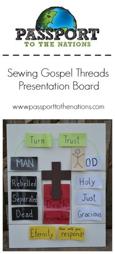 Superbe Gospel Threads Presentation Board   Back Yard Bible Club Idea Using Gospel  Colors