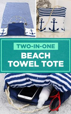 2-In-1 Beach Towel Tote