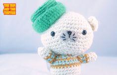 # Crochet #Amigurumi #Teddy #Bear with green hat by The Sun and the Turtle   by The Sun and The Turtle