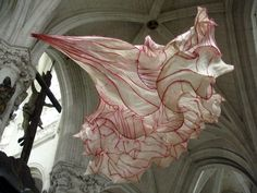 Fiber artist Peter Gentenaar creates three-dimensional, organic sculptures out of two-dimensional paper