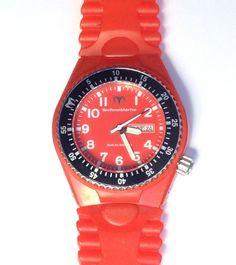 TechnoMarine Watch Red/Black Apnea G5, Red translucent Silicone Strap 43MM #TechnoMarine #Sport