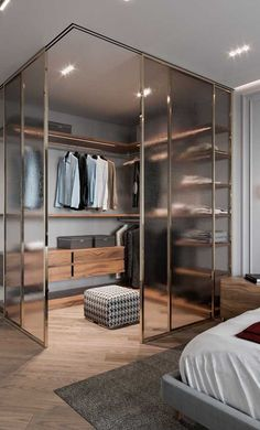 Bedroom Closet Design, Home Room Design, Closet Designs, Home Bedroom, Room Decor Bedroom, Modern Bedroom, Home Interior Design, House Design, Modern Closet