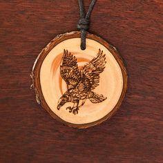 Adler - Ketten Holzschmuck aus Naturholz / Anhänger Abs, Wood, Earrings, Jewelry, Design, Jewels, Eagle, Chains, Handmade